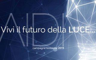 Vivi il futuro della LUCE… iscriviti ad AIDI!
