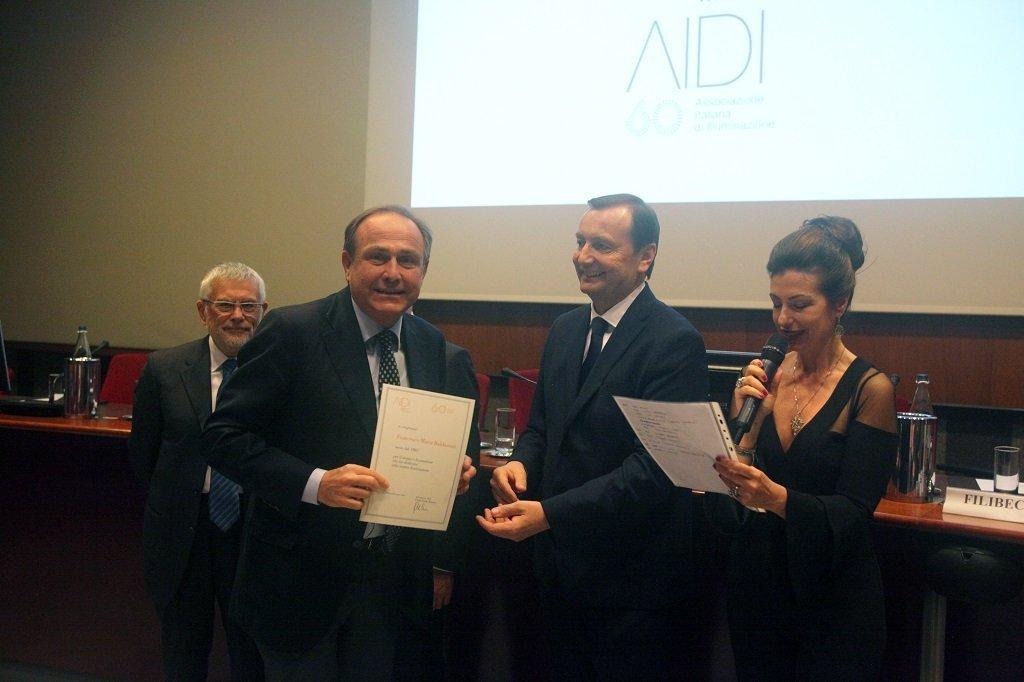 Francesco Maria Baldassari riceve il premio come socio storico, ph. Giulio Crosara