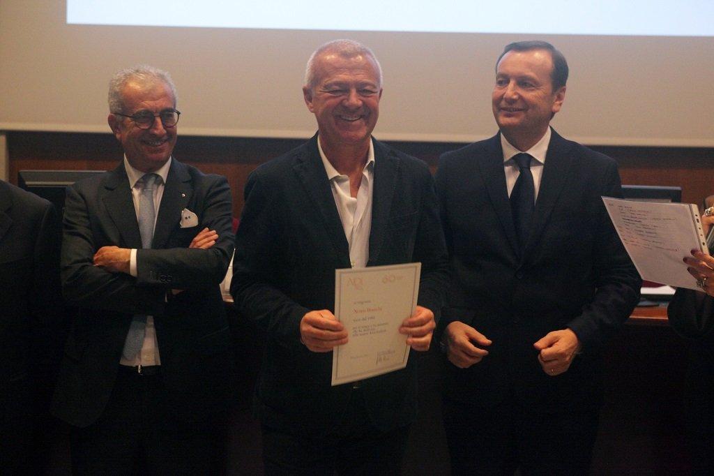 Nereo Bianchi riceve il premio come socio storico, ph. Giulio Crosara
