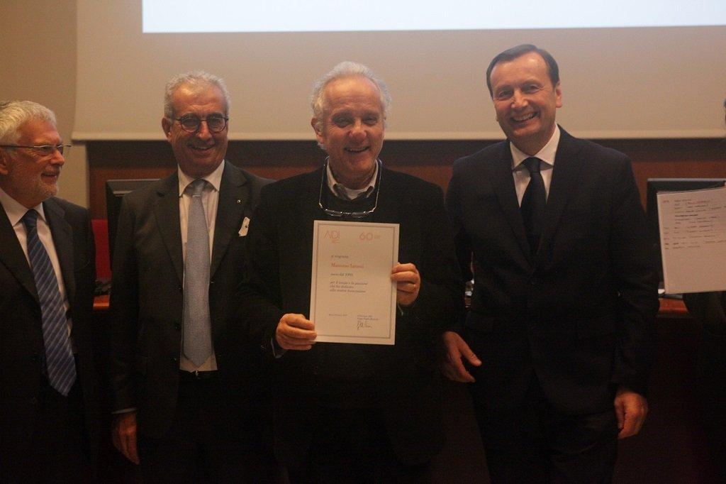 Massimo Iarussi riceve il premio come socio storico, ph. Giulio Crosara