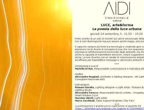 """WEBINAR """"LUCE, arte&forma. La poesia della luce"""""""